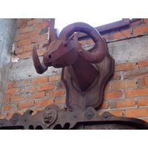 Remato Escultura De Cabeza De Borrego Cimarron De Metal.