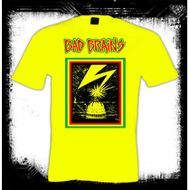 Bad Brains - Camiseta Amarilla Hardcore Punk Heavy Metal