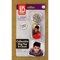One Direction Collar Con Placa De Zayn Artículo Oficial.mn4