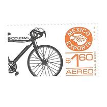 Estampilla México Exporta Bicicleta $1.60 Primera Serie Nuev