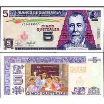 Guatemala 5 Quetzales 2007 2008 Au1