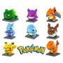 Pokemon - Set De 8 Figuras Mini Blocks Lego Mewtwo,charizard