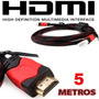 Cable Hdmi 5 Metros Full Hd 1080p Tv Lcd Led Xbox 360 Lap