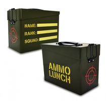 Lunch Box - Munición Almuerzo Estilo Militar Metal Lleva La