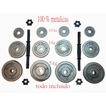2 Mancuernas 16 Kg C/u (set De 64 Lbs) -pesas-discos-barras.