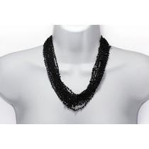 Collar De Piedra Tela Onix Ccpn162