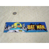 Juguete Antiguo Batman Calcomanía Original De 1982
