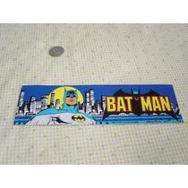 Juguete Antiguo Batman Calcomanía Original De 1982