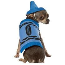 Disfraz De Crayola Azul Para Perros, Mascotas, Envio Gratis