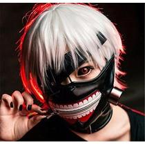 Mascara + Peluca Tokio Ghoul Kaneki Ken Blakhelmet Sp