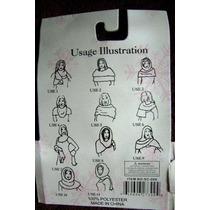 Bufanda Multi-prenda Tejida Color Miel. Unitalla