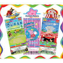Invitaciones Infantiles Ticket Para Imprimir