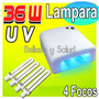 Lampara Uv 36 Watts Uñas Acrilico Gel Decoracion Gelish 36w