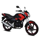 Moto Italika Ft180 Con Led Negro / Rojo