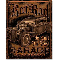 Poster Cartel Afiche Metal Retro Vintage Rat Rod Garage Hot