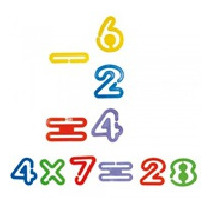 Numeros Enganchables Braile Material Didactico