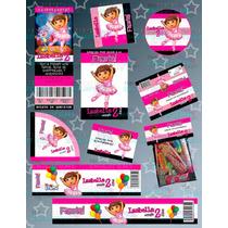 Invitaciones De Dora-kit Dora #2-dora La Exploradora