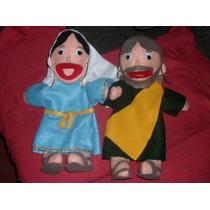 Gcg Coleccion Titeres Biblicos Virgen Maria Y San Jose Mmy