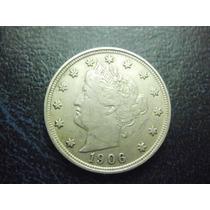 Usa 5 Centavos Fecha 1906 Niquel