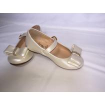 Zapatos Niña Casual Moderno Princesa Beige Nacarado