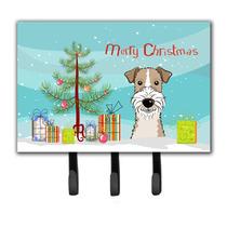 Árbol De Navidad Y Cabelludo Del Alambre Fox Terrier Correa
