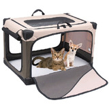 Transportadora Corral Jaula Perros, Gatos Y Mascotas Md
