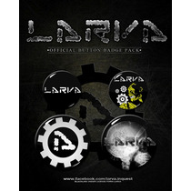 Larva - Paquete De Pins Industrial Hocico Blutengel Gotico