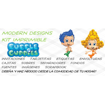 Kit Imprimible Bubble Guppies Adornos Invitaciones Y+