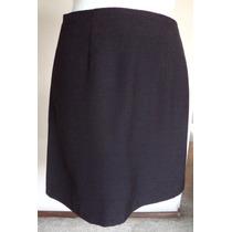 T-s Falda Negra De Corte Clásico Linea A-! Fch176
