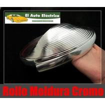 Moldura Cromada 13mm Rollo 10 Mts Pegamento Vmj