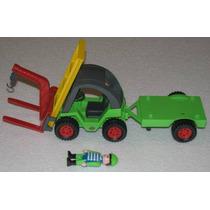 Montacargas (forklift), Remolque Y Figura Tipo Playmobil