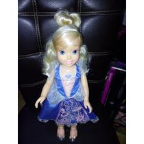Muñeca Princesa Cenicienta Disney Impotada Con Luz 50cms