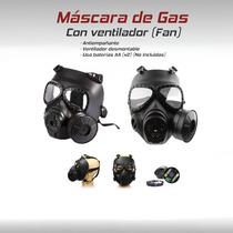 Mask Mascara Gas Militar Ventilador Gotcha Paintball Airsoft