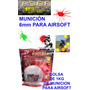 Pelotas Municion Airsoft 6mm .20g Paintball Gotcha