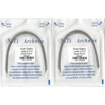 4 Paquetes Arcos Niti Redondos 0.012 Y 0.014 Ortodoncia