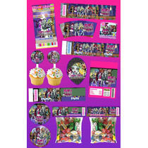 Kit Imprimible Monster High Personalizado 30 Etiquetas