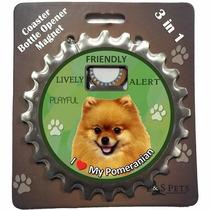 Destapador Imantado 3 En 1 Pomeranian - Acero Inoxidable
