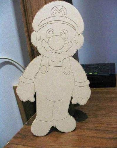 Figuras personajes para pintar infantiles mario bros - Lamparas de madera para pintar ...