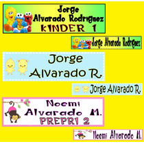 130 Etiquetas Adhesivas Utiles Escolar Cuaderno Colores Vmj