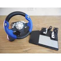 Control Volante Y Pedal X Box Card Clasico Intec F151