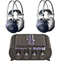 2 Akg K77 Audifonos + Art Headamp 4 Amplificador
