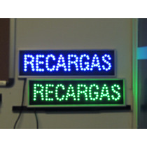 Anuncio Luminoso Led Recargas Letrero Luminoso Led Recargas