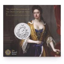 Moneda Inglaterra 5 Libras (2014) 300 Aniv. Muerte Reina Ana