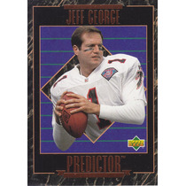 1995 Upper Deck Predictor League Leaders Jeff George Qb