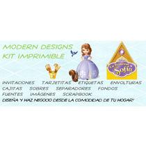 Kit Imprimible Princesa Sofía Adornos Invitaciones Y+