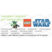 Kit Imprimible Lego Star Wars Adornos Invitaciones Y+