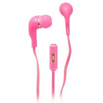 Audifonos Manos Libres 3 5 Mm Ginga Con Microfono Rosa