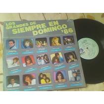 Disco Lp De Acetato Los Grandes De Siempre En Domingo 86