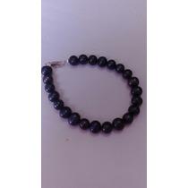 Pulsera De Perla Negra Cultivada 19 Cm.