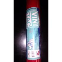 Rollo Vinil Autoadherible Vini Tac Color Rojo 20 Metros X 0.